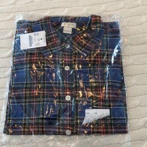 J.crew plaid perfect shirt NWT